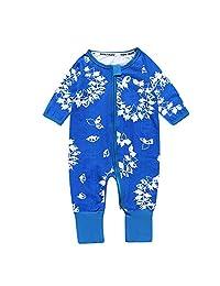 Kids Tales Baby Flower Footed Handed Zipper Pajama Sleeper Cotton Romper