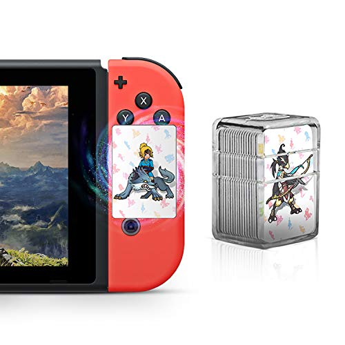 UPSTONE Botw NFC Tag Game Cards for the Legend of Zelda Breath of the Wild Switch/Wii U - 22pcs Mini Cards with Crystal Case