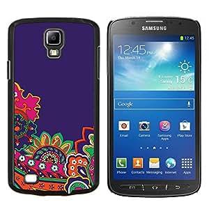 Stuss Case / Funda Carcasa protectora - Bricolaje Oro Papel Rosa Marrón - Samsung Galaxy S4 Active i9295