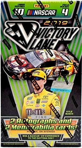 2019 Panini Victory Lane NASCAR Racing HOBBY box (4 pks/bx, TWO Memorabilia & TWO Autograph cards)