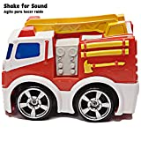 Kid Galaxy PBS Kids Toy Fire Truck. Soft Push Car Vehicle for Toddlers, Boys & Girls Age 18 Months & Up, Red. Juguetes Coche Camión De Bomberos Para Niños. From Co. Behind Wild Kratts Vehicle