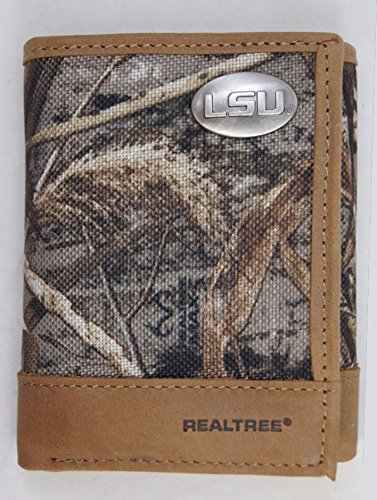 Jamarcus Russell Jersey (LSU Tigers Trifold Realtree Max-5 Camo & Leather Wallet w/ Metal Concho - Zep-Pro - NCAA)
