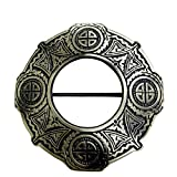 AAR Celtic Knot Antique Finish Fly Plaid Piper Brooch for 3'' Diameter Kilt