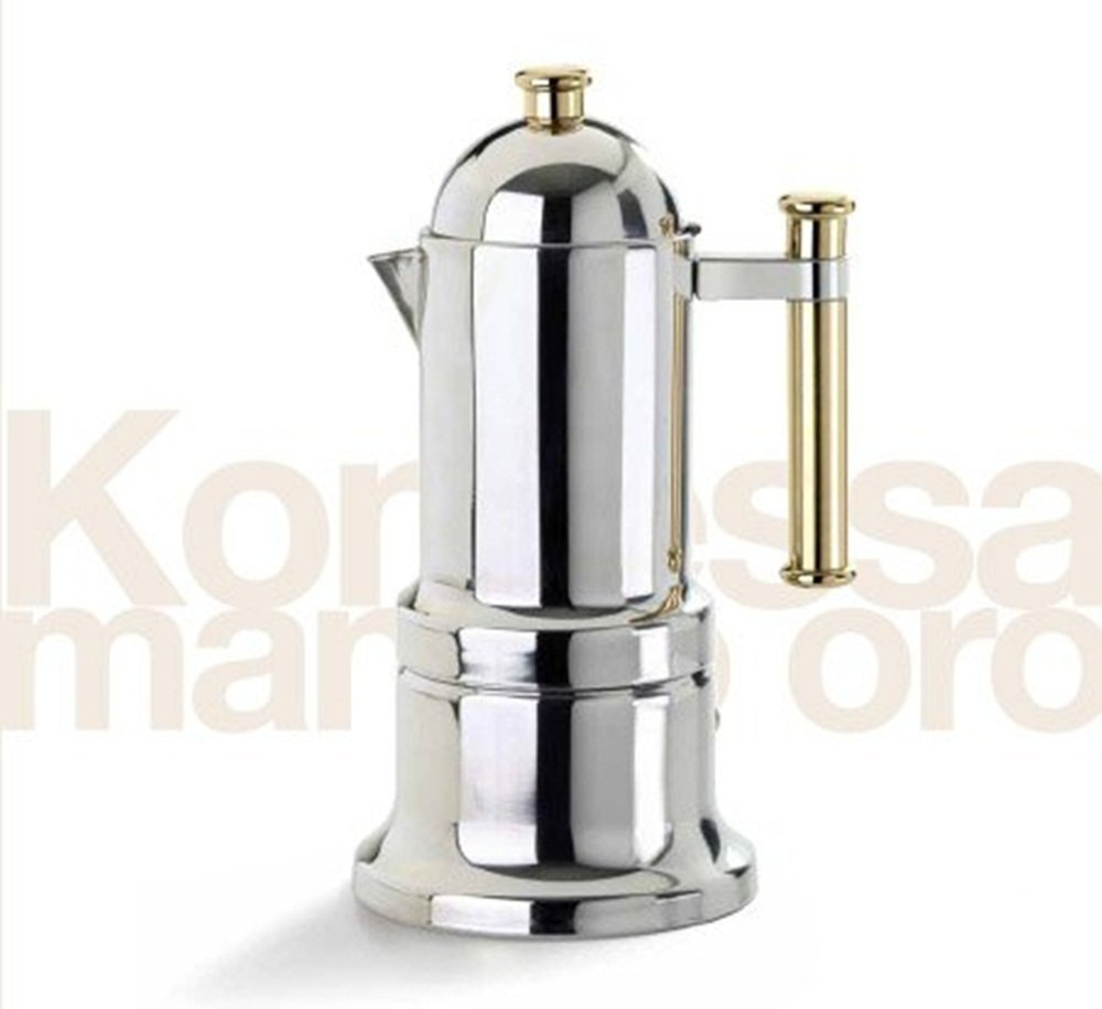 Vev Vigano 8006 Kontessa Oro 6-cup Espresso Pot