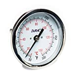 H-B DURAC Bi-Metallic Dial Thermometer; 10 to 150C (50 to 300F), 1/2 in. NPT Threaded Connection, 75mm Dial (B61310-6900)