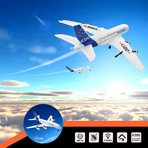 l Airplane, Direct RTF RC Plane Drone WLTOYS A120-A380 2.4GHz 510mm Wingspan 3CH RC Airplane Airplane Toy Fixed Wing RTF with 2.4GHz Control Flying Aircraft for Indoors/Outdoors Fl ()