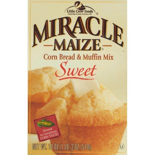 Miracle Maize Corn Bread & Muffin Mix, Sweet, 18 oz (Pack of 12)