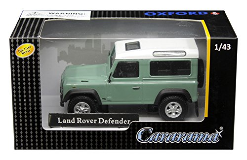 Cararama 1: 43 Land Rover Defender (Pastel Green/White) Diecast Vehicles