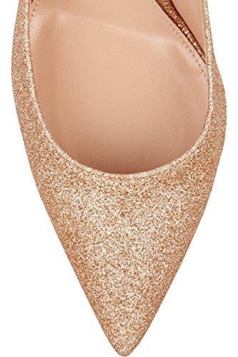 Kevin Fashion ,  Damen Durchgängies Plateau Sandalen mit Keilabsatz Gold