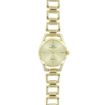 Belle Reloj Mujer Pulsera Acero Dorado Gorgio  Amazon.es  Relojes 8e745d2711bf