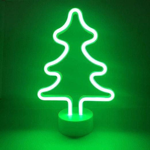 Christmas Tree Neon Sign Xmas Tree Neon Light LED Neon Light Art Wall Decor for