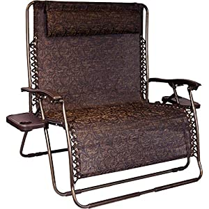 Bliss Hammocks 2 Person Zero Gravity Recliner With Cup Trays - Brown