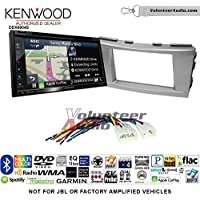 Volunteer Audio Kenwood Excelon DNX694S Double Din Radio Install Kit with GPS Navigation System Android Auto Apple CarPlay Fits 2007-2011 Non Amplified Toyota Camry (Silver)