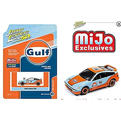 Johnny Lightning New DIECAST Toys CAR 1:64 50TH Anniversary - Gulf 1990 CRX JLCP7198-24: Toys & Games