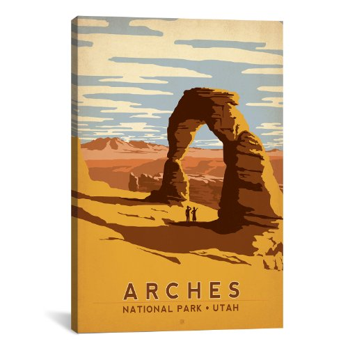 iCanvasART Arches National Park, Utah Canvas Art Print by Anderson Design Group, 18 by 12-Inch