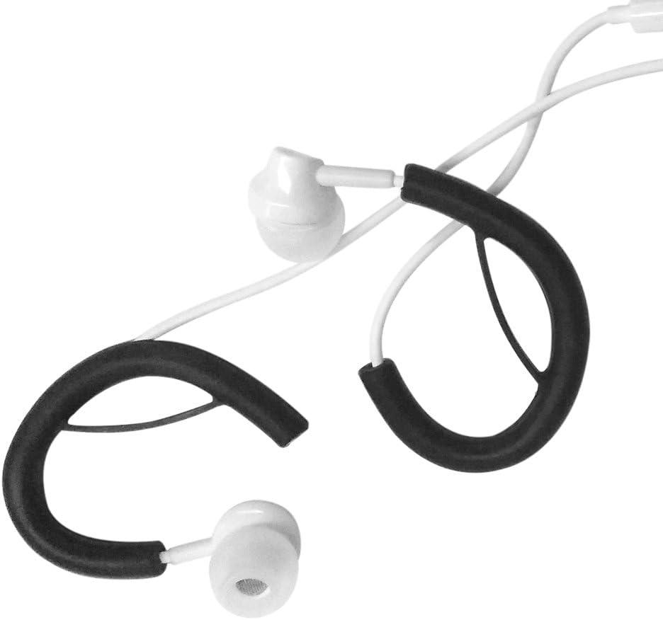 Docooler 2 Pairs 4 PCS Weiche Silikon Nudeln Kabel Kopfh/örer Ohrb/ügel Clip Ohr Runde Draht Haken Aufh/änger Earloop Ersatz