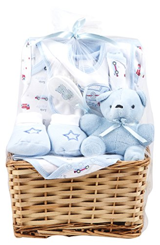 Big Oshi Baby Essentials 9 Piece Layette Basket