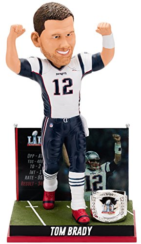 Forever Collectibles Tom Brady New England Patriots Super Bowl Special Edition - 5th Win Bobblehead (Tom Brady Head Bobble)