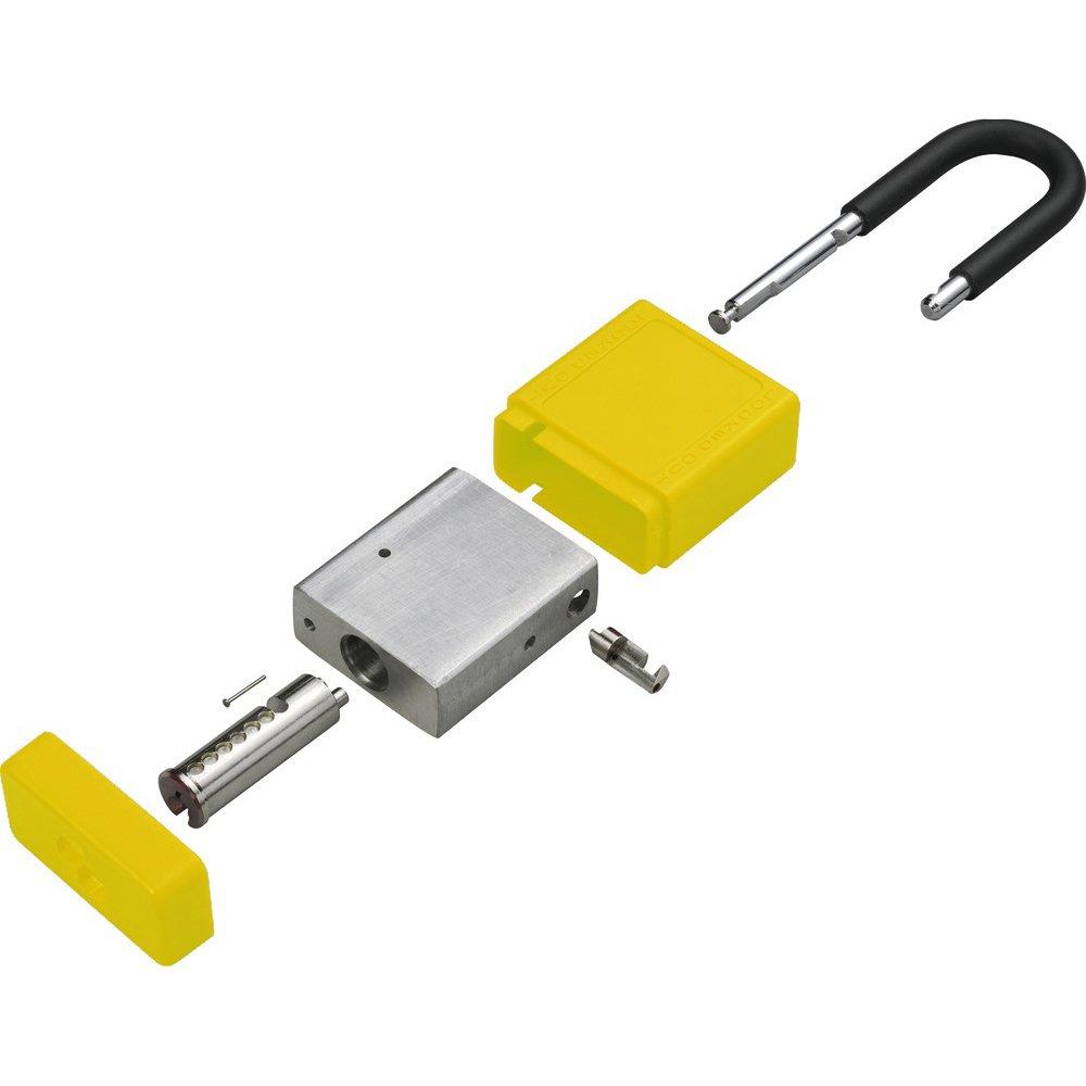 ZING 7068 RecycLock Safety Padlock, Keyed Alike,1-1/2'' Shackle, 1-3/4'' Body, Yellow, 3 Pack