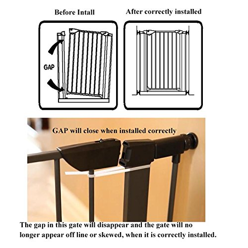 Fairy Baby Pet & Baby Gate Narrow Extra Wide for Stairs Metal and Wood Pressure Mounted Safety Walk Through Gate,Fit Spaces 68.11''-70.87'' (3-7 Days Delivered) by Fairy Baby (Image #7)