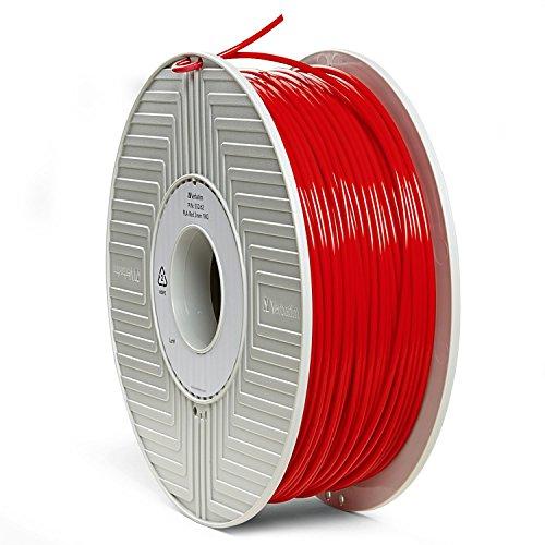 Verbatim PLA 3D Filament 3mm 1kg Reel, Red 55262 Supplies Verbatim