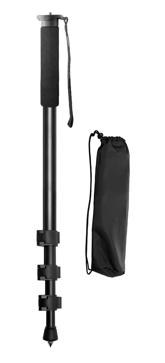 75'' Inch Elite Series Pro Camera Tripod + Pro Series 72'' Inch Monopod with Quick Release for DSLR Cameras/Camcorders + eCostConnection Microfiber Cloth by eCostConnection