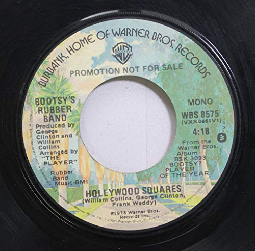 BOOTSY'S RUBBER BAND / Hollywood Squares / 45rpm record