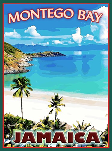 A SLICE IN TIME Montego Bay Jamaica Caribbean Islands Island Travel Advertisement Art Poster Print. Measures 10 x 13.5 inches.