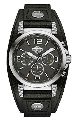 Harley Davidson Chronograph Leather Watch 76B173