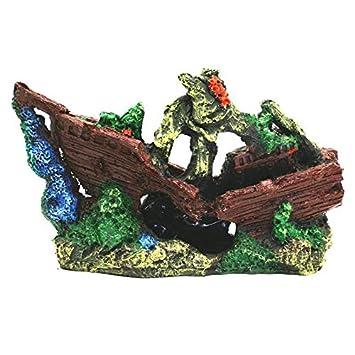 Pet Online Fish Tank ornamento pirata resina ornamentos hunde barco pirata de simulación de acuarios paisajismo creativo ornamentos, ...