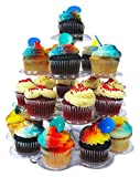 Imperial 4 Tier Plastic Cupcake / Dessert Stand - Up to 24 Cupcake Holder Stand