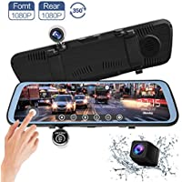 CHICOM 9.66 inch Touch Full Screen Mirror Dash Cam