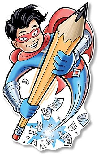 North Star Teacher Resources Writing Superhero Large 2S Accent Bulletin Board Cutout -