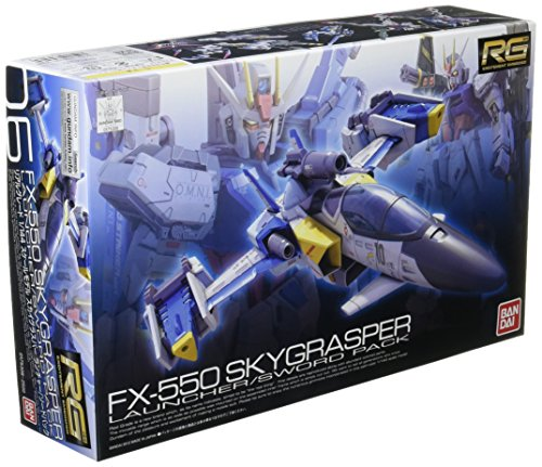 Bandai Hobby RG #6 Skygrasper with Launcher/Sword Pack Gudnam Seed Model Kit (1/144 Scale) from Bandai Hobby