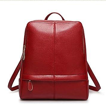 boaogos Mochilas tipo casual mochila mujer piel auténtica de alta calidad mochilas para niñas adolescenti Escuela femenino bolsa de bandolera Bagpack, ...