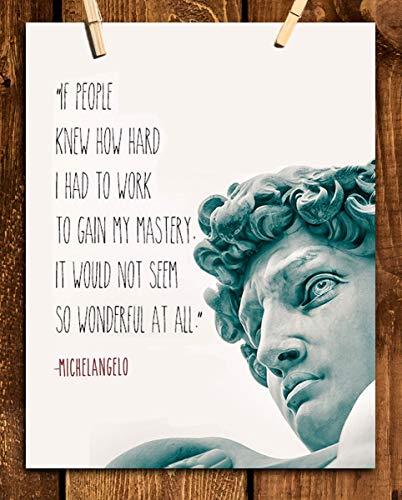 Michelangelo Quotes Wall Art-
