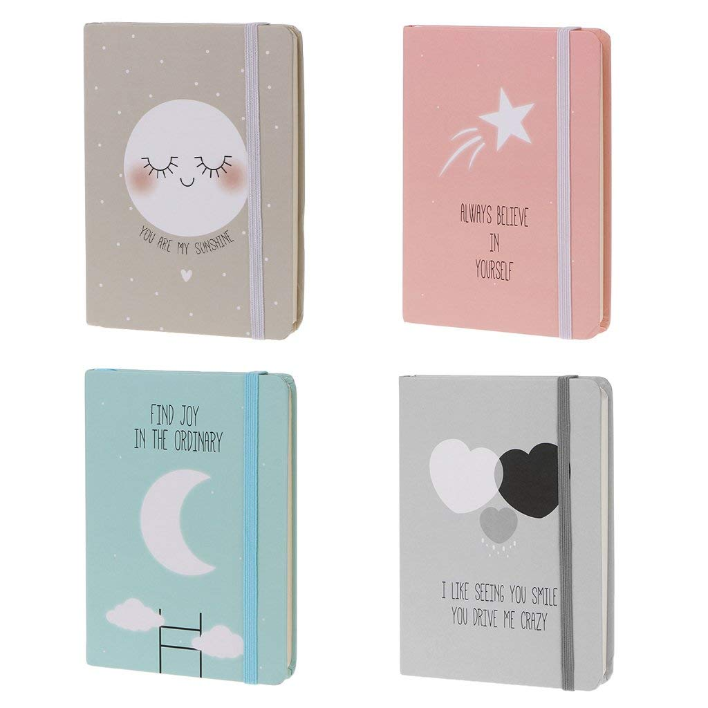 Yevison 1pcs Notebook-Random Color, Cute A6 Notepad Memo Diary Notebook Exercise Book Oil Painting Cover for Office School Supplies Student Gift Durable and Useful