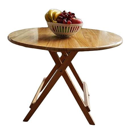 Mesas de comedor Mesa Plegable de Madera Maciza Simple Portable al ...
