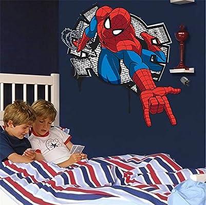 Mini Spiderman Pegatinas De Pared Para Niños Habitaciones Niños ...