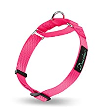 Martingale Collars for Dogs Adjustable Durable Dog Collar Solid Color Nylon Dog Collars for Medium Dogs By Dazzber