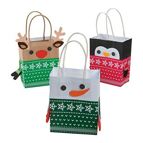 OTC Christmas Sweater Character Mini Gift Bag Craft Kit - 1 Dozen