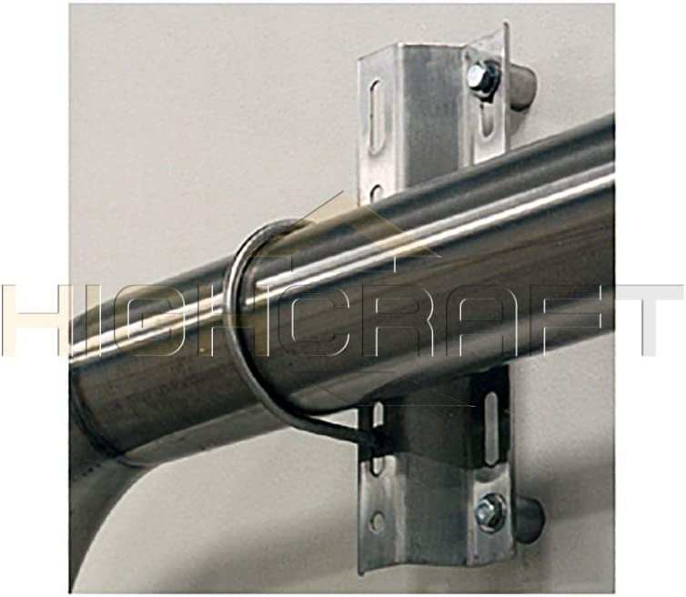 Chrome 10 Pack 2 inches Highcraft BUS-GE0238-10 U-Bolt Pipe Clamp Electro Galvanized Steel