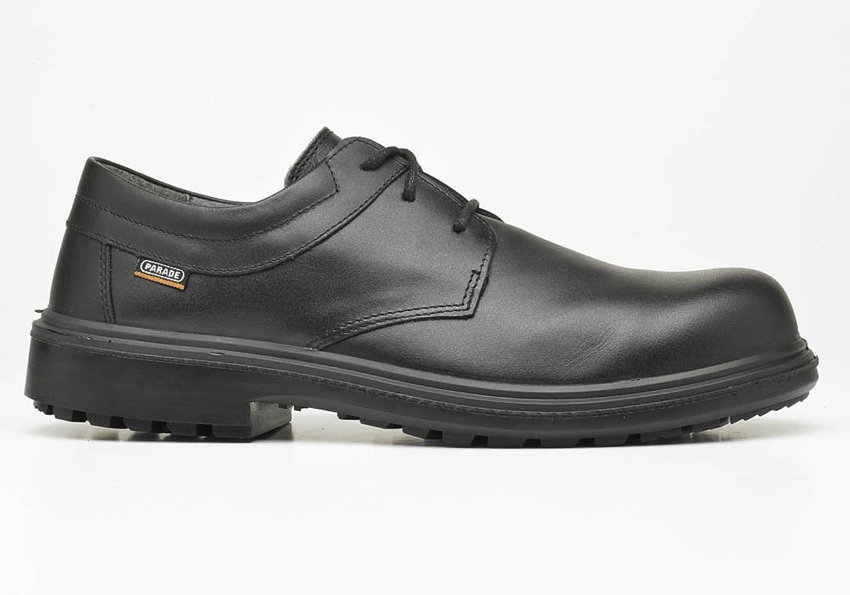 Défilé - Peau De Porc De Chaussures De Protection Pour Les Hommes, Couleur Noire, Taille 45.5
