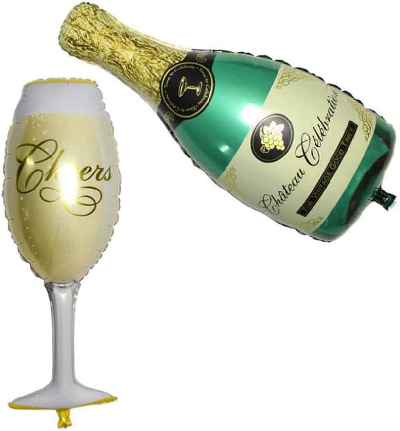 kongnijiwa Decoración Decoración de la Botella de champán Copa ...