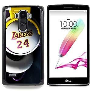 - Laker 24 Basket - - Cubierta del caso de impacto con el patr??n Art Designs FOR LG G Stylo / LG LS770 / LG G4 Stylus Queen Pattern