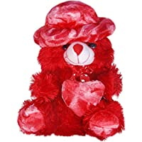 LVS TOYS RED Cap Teddy Bear [ 40 cm ] Soft and Sweet