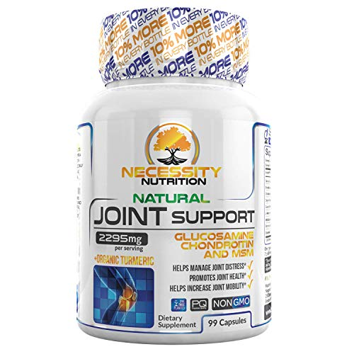 Joint Supplements For Men & Women Extra Strength Glucosamine Chondroitin MSM Complex Turmeric Curcumin Boswellia Capsules Black Pepper Bioperine Natural Pain Relief 99 Pills Supports Anti-Inflammatory