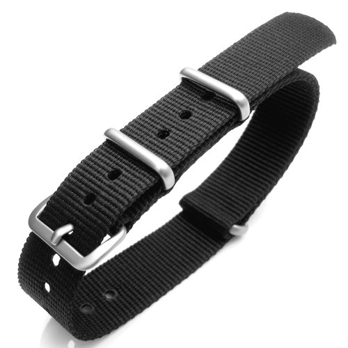 16mm Nato Heavy Nylon Black Strap B