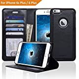 Navor ZEVO-D Slim Light Premium Wallet Case with Magnetic Detachable Cover for iPhone 6 Plus / 6S Plus [5.5 Inch] - Black (IP6P1LBK)