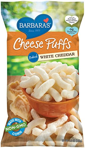 Barbara's Bakery Cheese Puffs, Baked White Cheddar, 5.5 Ounce (Pack of 12) (Cheese Corn Puffs)